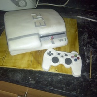 Ps3 Cake This is a cake i made for my brothers nephew, he loves his games console. It took a few attempts to get the correct shape but i got there...