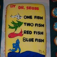 One Fish Two Fish Storybook Cake