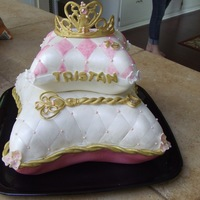 Princess Pillow Cake Princess Pillow cake with gumpaste Tiara and Septor for daughters 18th birthday! First attempt at a pillow cake :)