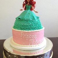 Ariel Princess Cake Buttercream Ariel princess cake.