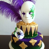 Mardi Gras Special Event Cake Cake Made With Marshmallow Fondant Large And Small Mask Made Of Gumpaste Tip Use The Premade Masks A Mardi Gras special event cake. Cake made with marshmallow fondant. Large and small mask made of gumpaste (Tip: use the premade masks as...