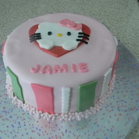 Hello Kitty This Hello Kitty cake for my niece...last minute cake but it came out pretty nice!