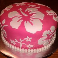 Hibiscus Birthday Cake