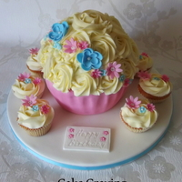 Giant Cupcake With Matching Fairy Cake