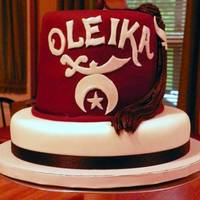 Shriner Hat Grooms Cake  The groom is a Shriner and wanted a cake to represent that. The cake is all chocolate with chocolate buttercreme and covered in fondant...