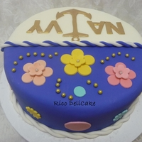Girly Navy Cake