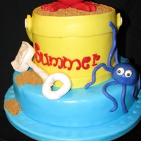 Summer Is Here!!! This cake I found somewhere as I was blog-surfing, sorry cant remember where. I donated this cake to my sons schools staff party! They...