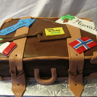Travel Suitcase This was a cake made for my neighbours 65th birthday. Shes a world traveller and I could only get a third of the places shes been to...