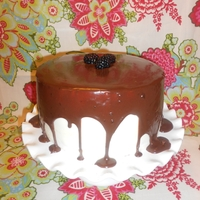Blackberry Merlot Chocolate Cake  I found this great recipe on Pinterest and decided to give it a try, with a few changes of my own. I love the look of these cakes with the...