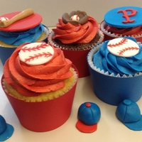 Baseball Cupcakes   Cupcakes I made for a Birthday Wishes party where the Pawsox were coming to visit.