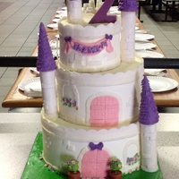 Jazmyn's 2Nd Birthday Cake   A pink and purple castle cake. Inspiration taken very much from the Royal Bakery.