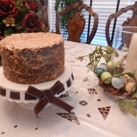 German Chocolate Cake I make that for my husband birthday. Simple cake but turn really good.