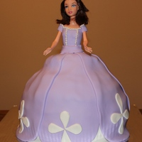 Vanilla Cake With Chocolate Frosting This Sofia The First Was Created For A Little Girl Who Adores Sofia   Vanilla Cake with Chocolate Frosting.. This Sofia the First was created for a little girl who adores Sofia!!