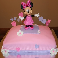 Minnie Mouse Chocolate Cake With Chocolate Frosting Pink Amp Purple Fondant Decor   Minnie Mouse.. Chocolate Cake with chocolate frosting.. Pink & Purple Fondant decor!!