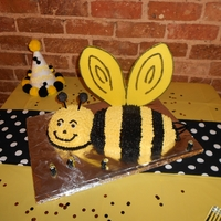 1St Birthday Bumble Bee   The main cake for my Grandson's first birthday.