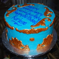 Scroll Cake Anniversary Chocolate Cake