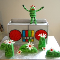 Brobee Yo Gabba Gabba! This was for a precious little boys First birthday! His favorite character is Brobee!The Yo gabba gabba boom box is Banana...