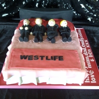 In Bed With Westlife This cake was great fun to make.
