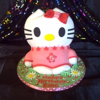3D Hello Kitty With this cake I wanted to do something differant to the other Hello Kitty's that I've done in the past and I think it's...