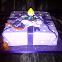 Fireman Jumping Out Of Presant Fun cake to make and dosnt take long to make.