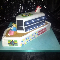 Cruise Ship With Lights This was a fun cake to make I love putting lights in them.