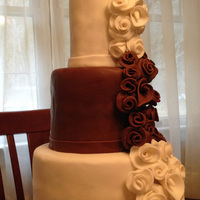 Small 3 Tier Wedding Cake All Fondant Including Flowers Small 3-tier wedding cake. All fondant including flowers.