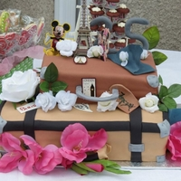 25Th Anniversary Luggage Cake 25th Anniversary celebration - vanilla and choclate flavoured cakes shaped like suitcases.