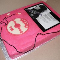 Justin Bieber Ipod Cake Inspired by a cake here on CC - chocolate slab cake filled and iced with buttercream. Photo and song were laminated, MMF accents and...