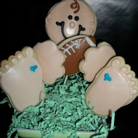 1322047504.jpg Cookie Pop Baby Shower Bouquet for Sports Themed Baby Shower