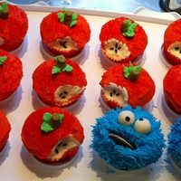 Bitten Apples And Cookie Monsters Some of my first cupcakes.