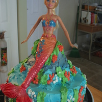 Barbie Mermaid Cake   Barbie Mermaid cake
