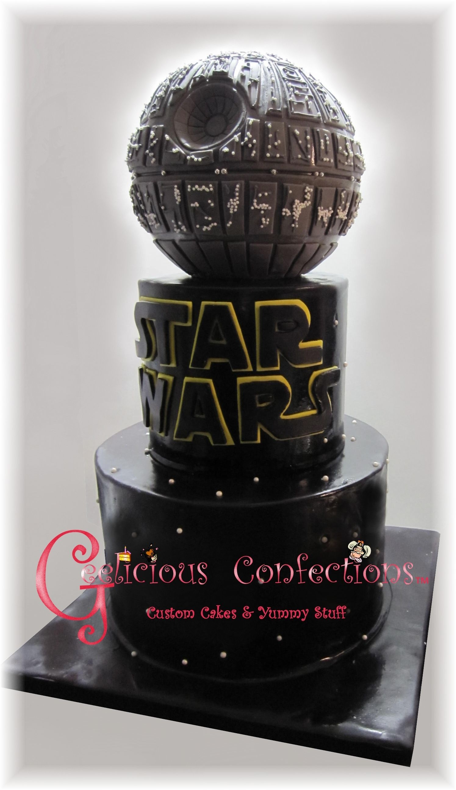 Not My Original Design But I Tried To Capture The Death Star As Best As I Could Since The Cake Was For Star Wars Fan To Celebrate His 40T Not my original design - but I tried to capture the Death Star as best as I could since the cake was for Star Wars fan. to celebrate his...