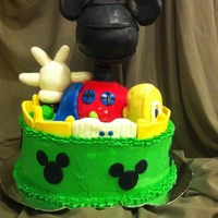 Mickey Mouse Clubhouse A friend of mine asked if I could do a Mickey Mouse Clubhouse cake... so I jumped in & gave it my best shot! It was quite fun! The &...