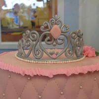 Princess Cake Princess Cake & Cupcake Tower - tiara was inspired by a template I found here on Cake Central