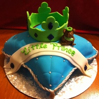 "Little Prince Cake I made this cake to go with their ""little prince"" decorations. I was asked to add in a monkey because of their nickname for the..."