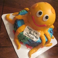 Octopus Cake I did this cake for a birthday party.