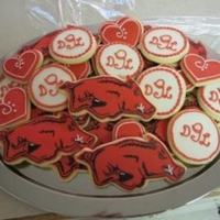 Arkansas Razorbacks Wedding Cookies These were for my cousin's wedding, they are huge Razorback fans. All work is royal icing and food writers.