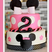 "Minnie Mouse Cake 86 Chocolate 75 Minnie Mouse Cake! 8""/6"" Chocolate $75"