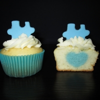 I <3 Somebody With Autism   heart inside a cupcake