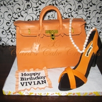 Hermes Cake Bag And A Manolo Shoe