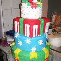 My First Ever 4-Tiered Christmas Cake