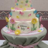 Baby Shower I made this cake for a friend's baby shower. She has been waiting for a baby for such a long time, and I wanted her cake to be very...