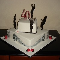 Birthday Cake For My Frend music,music notes, black & white, dance