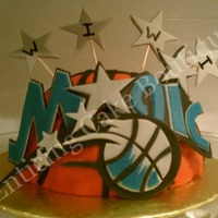 Orlando Magic Basketball Nba Fondant Birthday Cake orlando magic basketball nba fondant birthday cake
