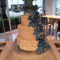 Autism Speaks Round Bling Buttercream Puzzle Event Cake Wedding Cake autism speaks round bling buttercream puzzle event cake, wedding cake