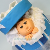 Baby Shower Cake chocolate cake covered and decorated with fondant, TFL