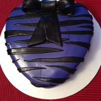 Purple Zebra Stripes Valentine Cake