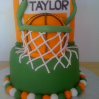"Basketball Birthday Cake This cake was made for a boy with special needs. All he wanted for his birthday was ""a basketball Cake Boss cake"". The green..."