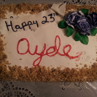 Very Simple Tres Leches For Me To Celebrate My Bday Alone Lol Fp Flowers And Fondant Leavesbanner   Very simple Tres Leches for me to celebrate my bday alone lol FP flowers and fondant leaves/banner
