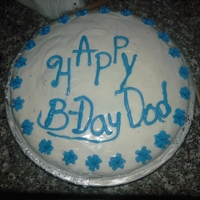 Dad  Simple Tres Leches cake I made for my dad. My husband ended up dropping it so my dad took a spoon full of the undamaged cake and was very...